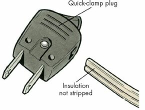 A quick-clamp plug is very easy to install.