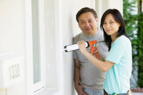 Sealing up cracks with a caulking gun in the spring will pay off in the heat of summer.