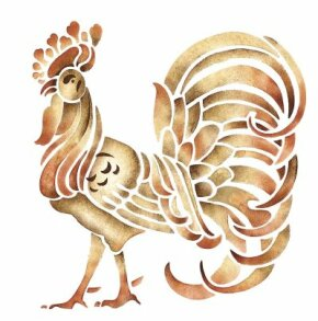 Learn how to stencil Rooster Table Linens.