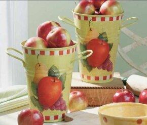 Learn to stencil Bountiful Fruit Buckets.