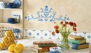 Stencil a French Country Kitchen.