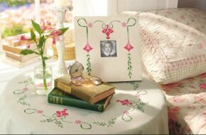 Stencil a Vintage Floral Table Cloth.