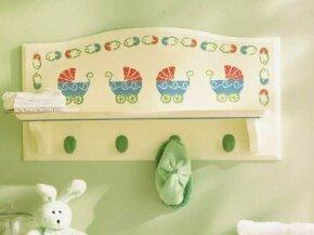 Stencil the Nursery Display Shelf.
