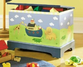 The Noah's Ark Toy Chest is colorful and useful, too.