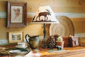A Rustic Moose Lampshade is rustic, yet genteel.
