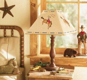 The Bucking Bronco Lampshade adds giddy-up to your home.