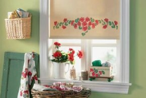 The Geranium Window Shade adds life to any room.