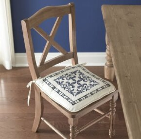 The Sweet Seat Cushion looks great at the dining table.