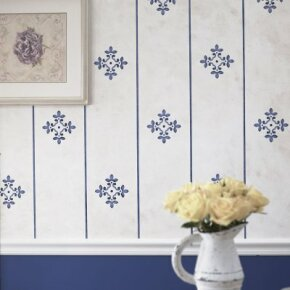 In this article, we'll teach you how to stencil faux wallpaper that's better than the real thing.