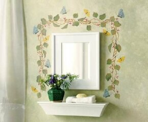 Add a burst of color to your room with this beautiful butterfly border.