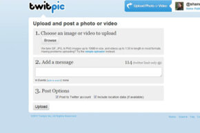 It's easy to upload images to Twitpic.com and share them on your Twitter feed.