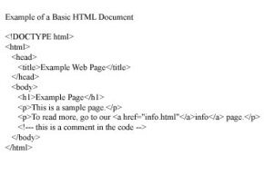 This is a very basic sample of HTML coding.