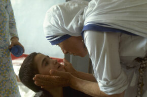 Mother Teresa, shown here visiting a hospital in Beirut, Lebanon in 1982, has come to be synonymous with kindness.