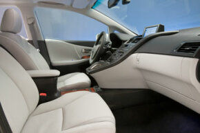 The seat cushions for the Lexus HS 250h contain eco-plastic. See more pictures of hybrid cars.