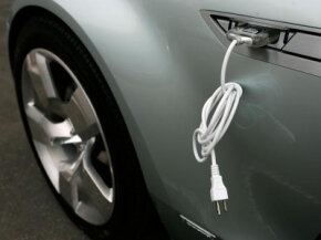 The electric cable attached to this Chevy Volt may help drivers do their part for the environment, but it could also open them up to a host of problems in an accident.