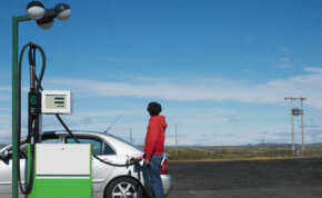 With gas prices on the rise, people and businesses are looking for environmentally sound solutions. See hybrid car pictures.