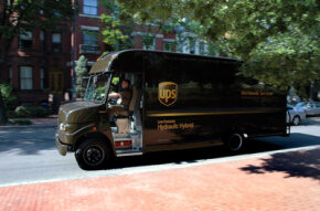 Because UPS trucks encounter a lot of stop and go traffic, they're the perfect vehicle for hydraulic hybrid systems.