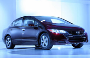 The new Honda FCX Clarity fuel cell vehicle is unveiled during the Los Angeles Auto Show in Los Angeles, Calif., on November 14, 2007. See more alternative fuel vehicle pictures.
