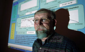 Leonard Malczynski, a hydrologist, software engineer and economist with Sandia National Laboratories, creates models using system dynamics to help water planners predict how different factors can alter use by consumers.