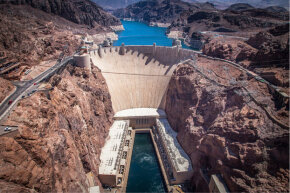Dickson's other invention doesn't exactly resemble this icon of hydropower – the Hoover Dam.