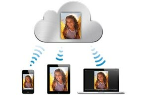 If you upload a photo to your iCloud online storage, you'll be able to access the file from any of your Internet-connected Apple devices.