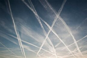 Those trails of smoke behind planes are not innocent. Nope, this is how the Illuminati manipulates the weather.
