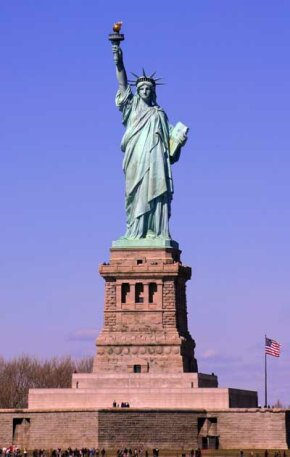 The Statue of Liberty was a welcome sight for millions of immigrants on their way to Ellis Island with hopes of better lives in America.