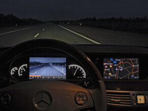 The Mercedes-Benz Night View Assist system is an example of near-infrared (NIR) technology.