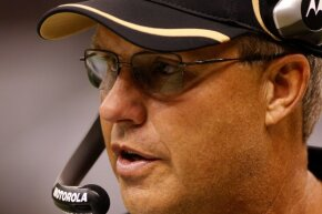 Gregg Williams watches a play during a game between the New Orleans Saints and the San Diego Chargers at the Louisiana Superdome in August 2010.