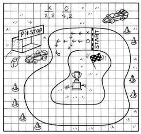Make a racetrack and then hold a car race.