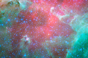 Infrared telescopes allow us to see things that aren't on the visible spectrum.