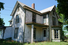 Deciding what to do with an old house can be tricky. First, determine the house's condition and value.