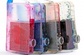If your cartridges are clear or translucent, you can get a visual on your ink situation.