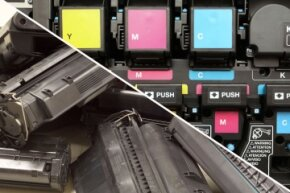 They both get your digital files onto paper, but the actual mechanics of printing with toner versus ink are vastly different.