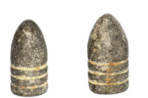 You're looking at a major development in bullet history – Minie balls. According to some sources, more than 95 percent of all wounds treated by Civil War doctors were caused by firearms, such as the Springfield Model 1855 rifle-musket, shooting the .58-caliber Minié bullet.