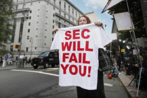 Faith in the SEC's ability to catch crooked business transactions isn't full among all people in the United States.