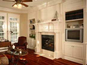 With a beautiful mantel, the fireplace can become the focal point of your living room.