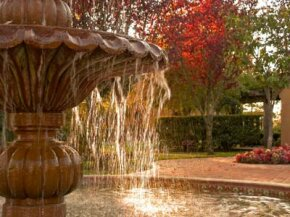 A fountain adds grace, beauty and serenity to almost any setting. It can also be a surprisingly low-cost home improvement.