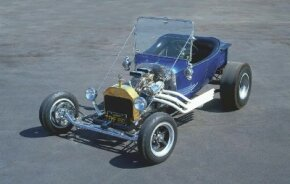 The Instant T hot rod featured 1915 Model T front lamps and windshield. See more hot rod pictures.