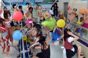 Japanese youth invade a Tokyo bathhouse to do their version of the YouTube dance craze, the Harlem Shake. What makes some videos go viral? See more YouTube Pictures.