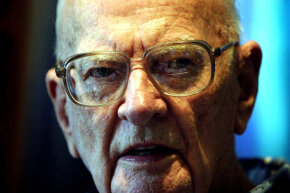 Science fiction author Arthur C. Clarke in 2003.