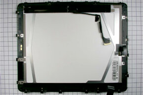 To certify the device in the United States, the Federal Communications Commission had to dissect the device and examine it. This is the back of the iPad display.