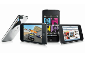The iPod touch bears a striking resemblance to the iPhone and can run many of its applications as well.