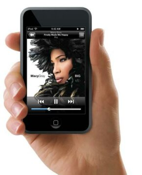 The iPod touch foregoes the standard Click Wheel in favor of multi-touch sensing.