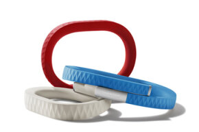 The Jawbone Up has a rubberized outer coating that protects it from water and also comes in several jaunty colors.