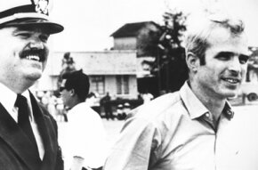 McCain after his release in Vietnam.