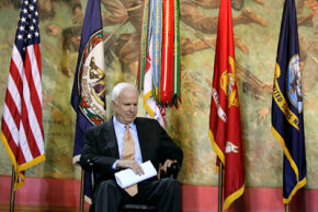 McCain at Virginia Military Institute.