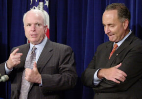 John McCain after passage of generic prescription bill.