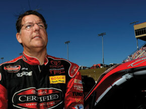 Johnny Benson at NASCAR Craftsman Truck Series E-Z-GO 200 at Atlanta Motor Speedway in Hampton, GA, October 2008.