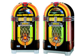 Convenient flat discs eventually caused the demise of phonograph cylinders. Today, you can still buy brand-new jukeboxes that automatically change vinyl records.